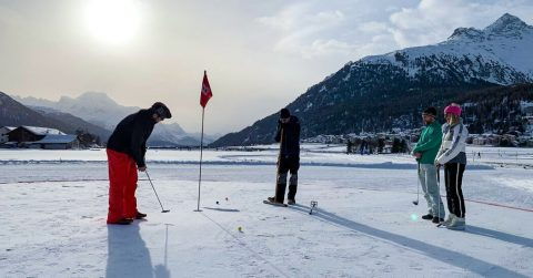 Snow Golf? In Switzerland, Where the Greens Are White